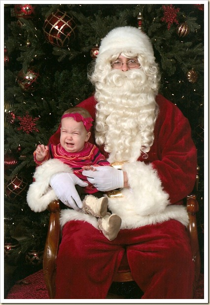 Lainey and Santa